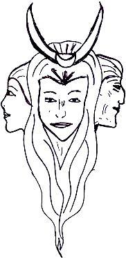 Trinität, Göttin in dreifacher Gestalt, Jungfrau, Mutter, Alte