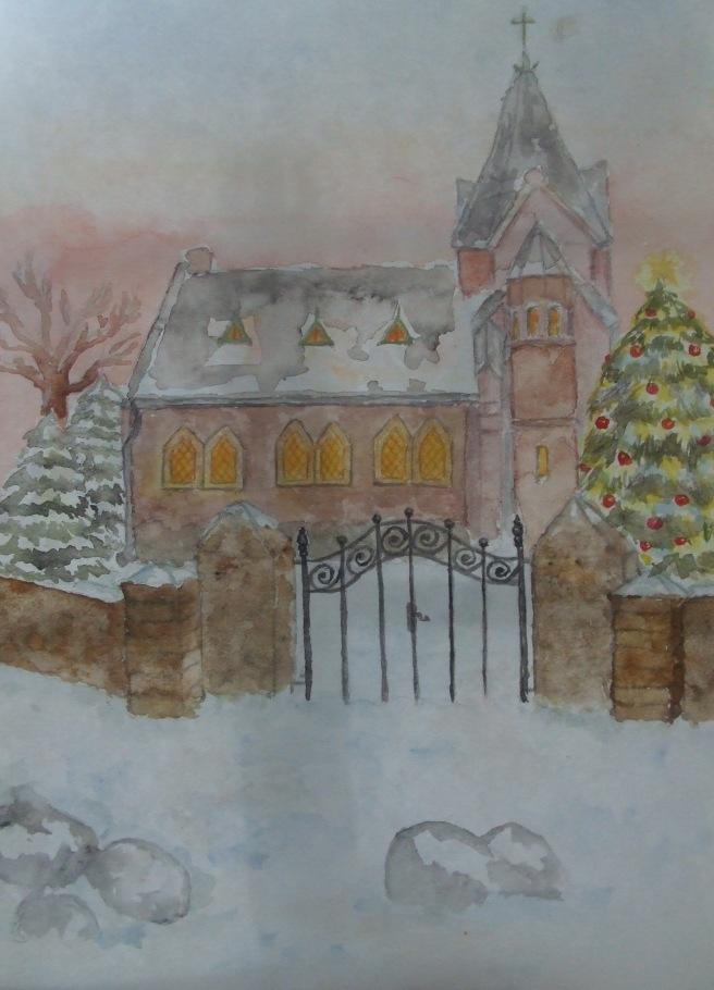 Kirche im Schnee, Weihnachten