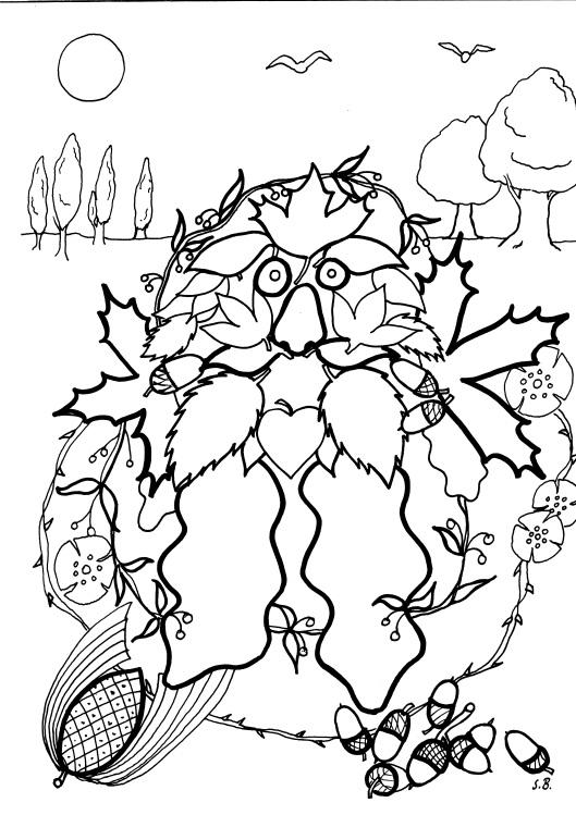 Troll Blätterfall