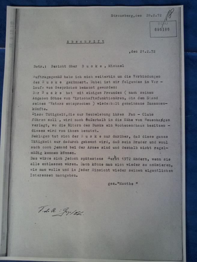 Bericht 21.2.1972