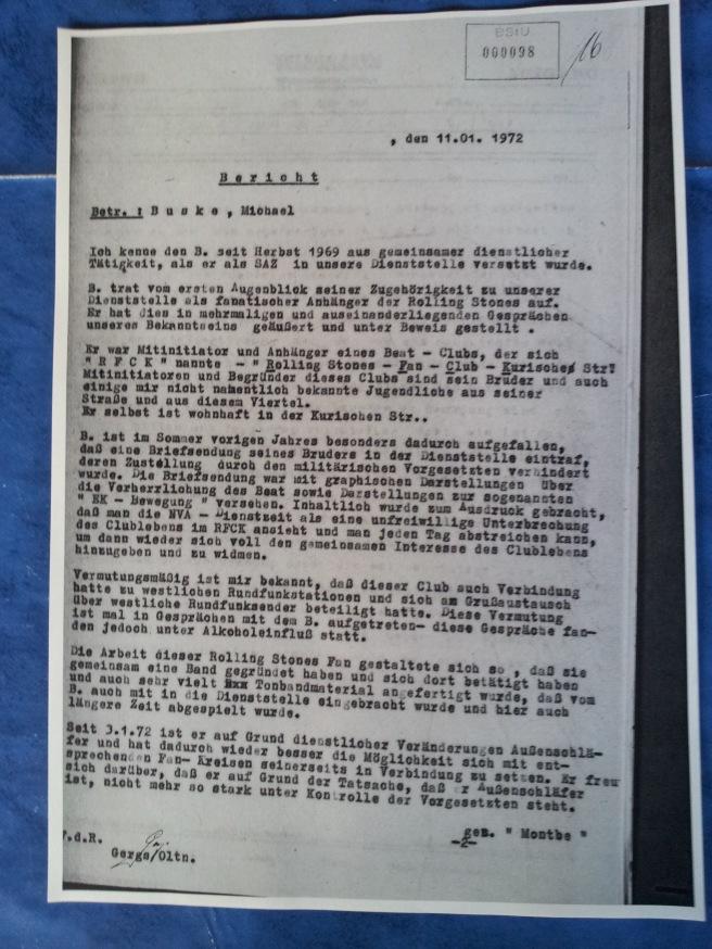 Bericht vom 11.01.1972